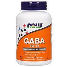 Биологически Активные Добавки Now Foods ГАМК 500 мг 100 растительных капсул (NOW-00087)
