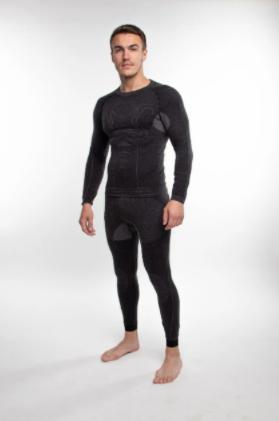 Мужское термобелье с шерстью альпаки 90261 Hanna Style S/M  Черный