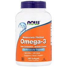 Биологически Активные Добавки Now Foods Омега-3 180 мягких желатиновых капсул (NOW-01657)