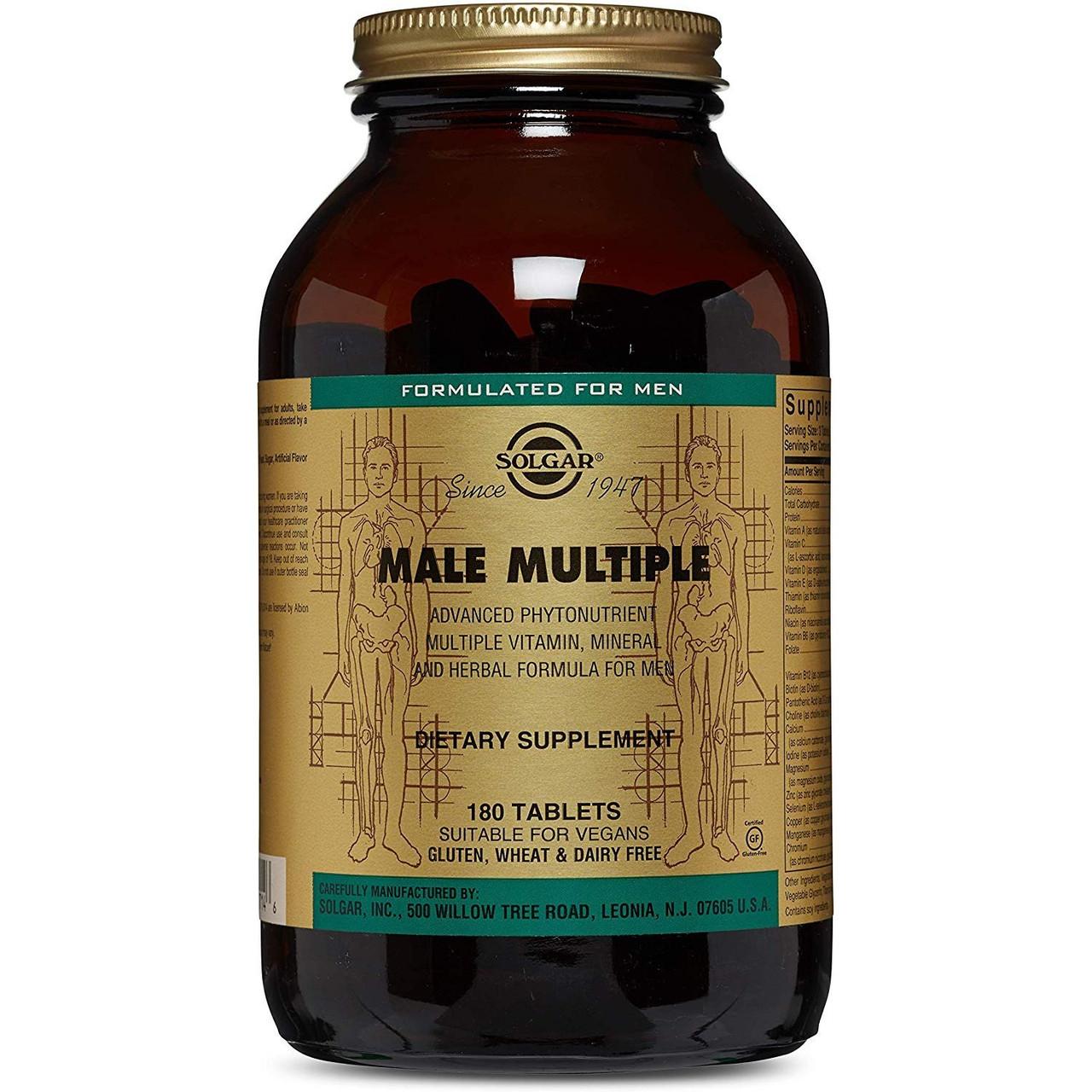 Вітамінний комплекс для чоловіків Solgar 180 таблеток Multiple Male