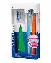 Набір Орто кіт Ortho Kit Curaprox (brush/1pcs + brushes 07,14,18/3pcs + UHS/1pcs + orthod/wax/1pcs + box)