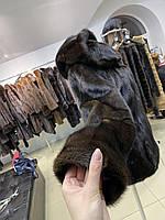 Женская норковая шуба с капюшоном размер М