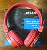 Беспроводные Bluetooth наушники Atlanfa AT-7611A c MP3 плеером, FM радио приемником и микрофоном, фото 4