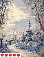 Картина по номерам (рисование по цифрам, живопись) 0045П1 (Зима)