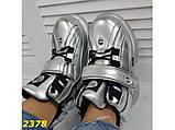Кроссовки ботинки на высокой платформе зимние серебро К2378, фото 9