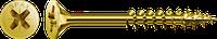 Саморез SPAX с покр. YELLOX 6,0х90, частичная резьба, потай, PZ3, 4CUT, упак. 200 шт., пр-во Германия