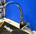 Кухонний латунний високий змішувач для кухні на мийку Haiba FOCUS 011 (HB0128), фото 3