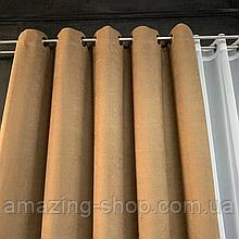 Комплект штор Petek на люверсах | Штори на люверсах | Шторы с подхватами | Кофейные шторы с подхватами |