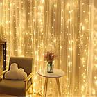 Гирлянда Штора светодиодная, 144 LED, Золотая (Желтая), прозрачный провод, 1,5х1,2м., фото 5