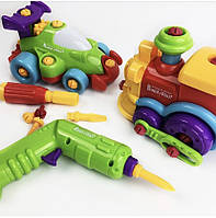 Игровой набор конструктор машина и поезд build and play Keenway