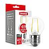 LED лампа MAXUS (filam), G45, 4W, тепле світло,E27 (1-LED-545-01)
