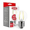 LED лампа MAXUS (filam), G45, 4W, яркий свет,E27 (1-LED-546-01)