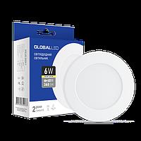 LED світильник GLOBAL SPN 6W тепле світло (1-SPN-003-З)