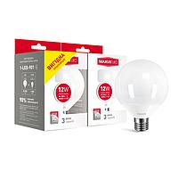 Набор ламп MAXUS G95 12W 3000K E27 (выгодная покупка 2 шт.)