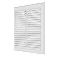 Вентиляційна решітка з сіткою проти комах (пластик) 215х215