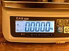 Весы фасовочные CAS SW-II-6D (6 кг, 1/2 г) два дисплея, фото 3