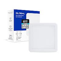 Точковий врізний LED-світильник GLOBAL SP adjustable 6W, 4100K (квадрат)