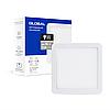 Точковий врізний LED-світильник GLOBAL SP adjustable 9W, 3000K (квадрат)