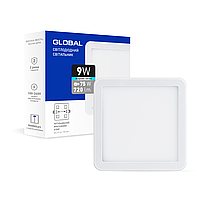 Точечный врезной LED-светильник GLOBAL SP adjustable 9W, 4100K (квадрат)