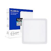 Точечный врезной LED-светильник GLOBAL SP adjustable 14W, 4100K (квадрат)