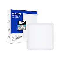Точечный врезной LED-светильник GLOBAL SP adjustable 18W, 4100K (квадрат)