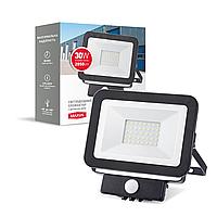 Світлодіодний прожектор MAXUS FL-01 30W, 5000K sensor
