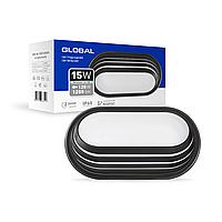 Антивандальний LED-світильник GLOBAL GBH 06 15W 5000K чорний (еліпс)