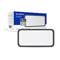 Антивандальний LED-світильник GLOBAL GBH 08 15W 5000K графіт (прямокутник)