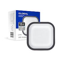 Антивандальний LED-світильник GLOBAL GBH 08 15W 5000K графіт (квадрат)