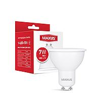 Лампа светодиодная MAXUS 1-LED-721 MR16 7W 3000K 220V GU10