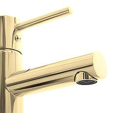 Смеситель для раковины (умывальника) REA TESS LIGHT GOLD низкий, фото 3