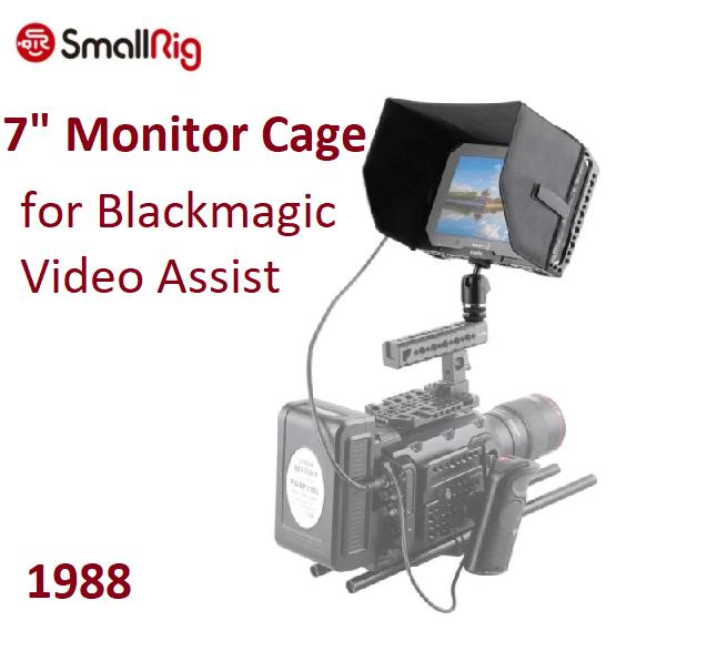 Кейдж SMALLRIG 7 Monitor Cage with Sunhood for Blackmagic Video Assist (1988)