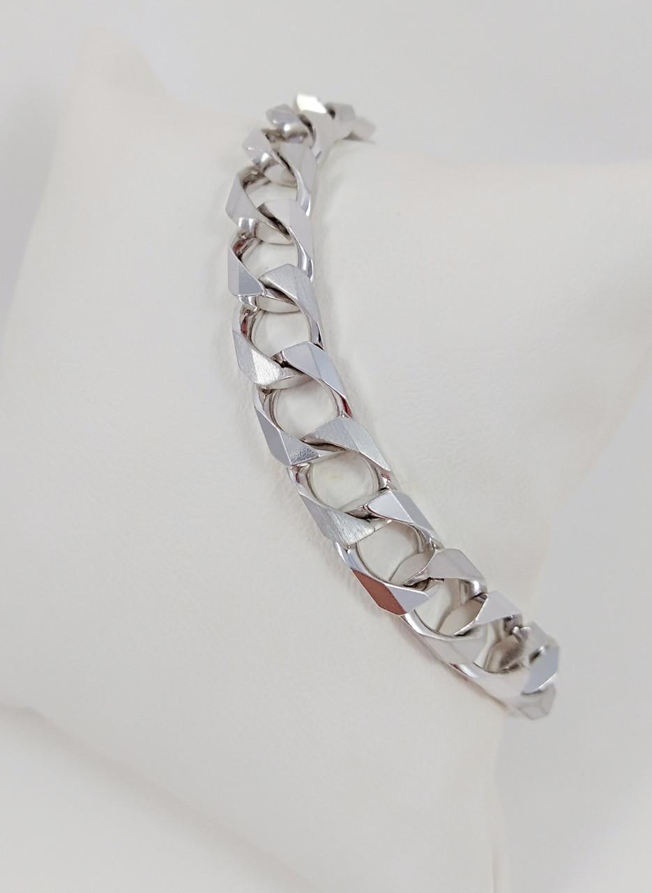 Браслет мужской серебряный