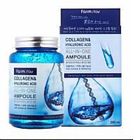 Ампульная сыворотка с гиалуроновой кислотой и коллагеном FarmStay Collagen 250мл