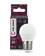 Лампа LED VELMAX V-G45 E27 6W 4100K