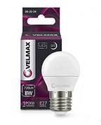 Лампа LED VELMAX V-G45 E27 8W 4100K