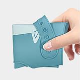 Слюнявчик силиконовый с карманом Созвездие Серый, фото 3