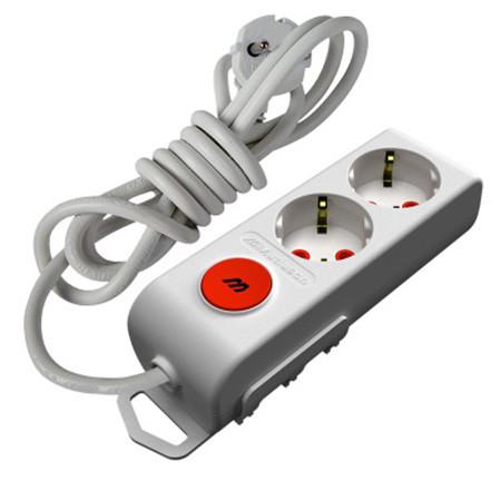 Удлинитель Mutlusan 2p 2м 3/3 16А Ri-Tech С выключателем Белый
