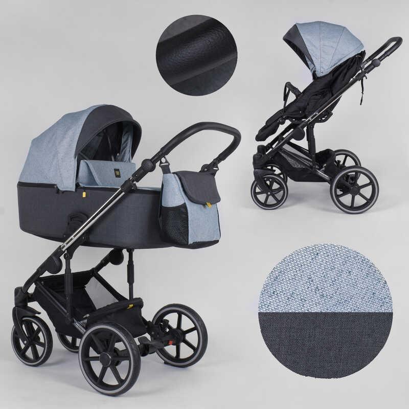 Детская коляска 2 в 1 Expander EXEO  EX-43266 (1) цвет Ocean, ткань с водоотталкивающей пропиткой