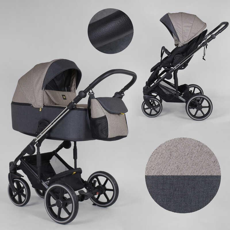 Детская коляска 2 в 1 Expander EXEO  EX-54377 (1) цвет Mocca, ткань с водоотталкивающей пропиткой