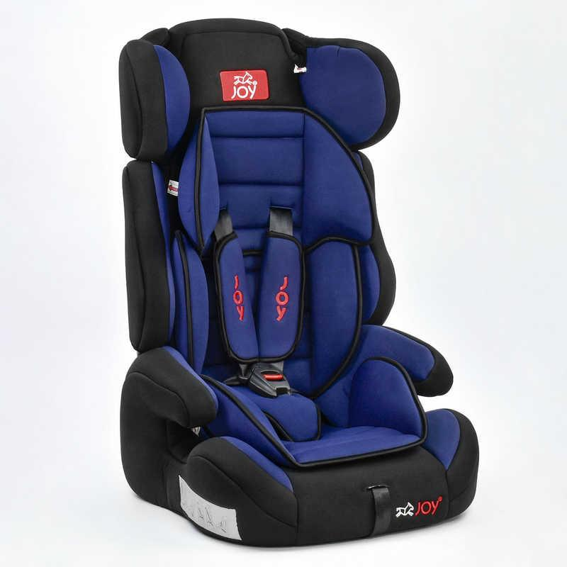Автокресло универсальное Е 1405 (2) Цвет чёрно-синий 9-36 кг, с бустером, Joy