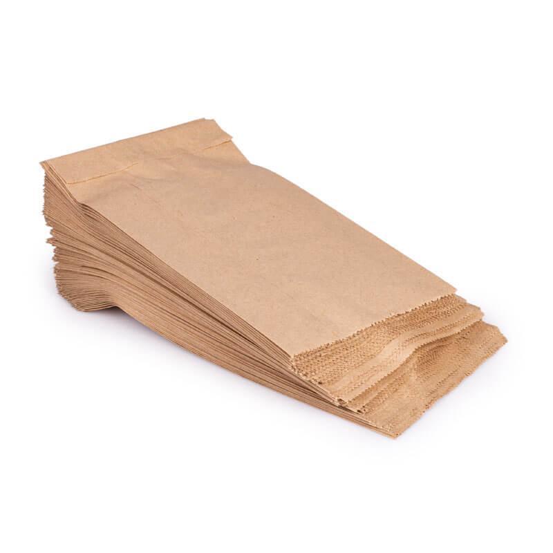 Пакет бумажный 22+6х31см из бурой крафт бумаги 1000шт