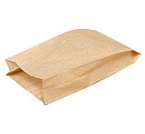 Пакет бумажный 22+6х31см из бурой крафт бумаги 1000шт, фото 2