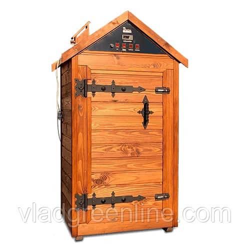 Деревянная коптильня холодного и горячего копчения, вяления и сушки Drevos Биг  2.0 (до 70 кг)