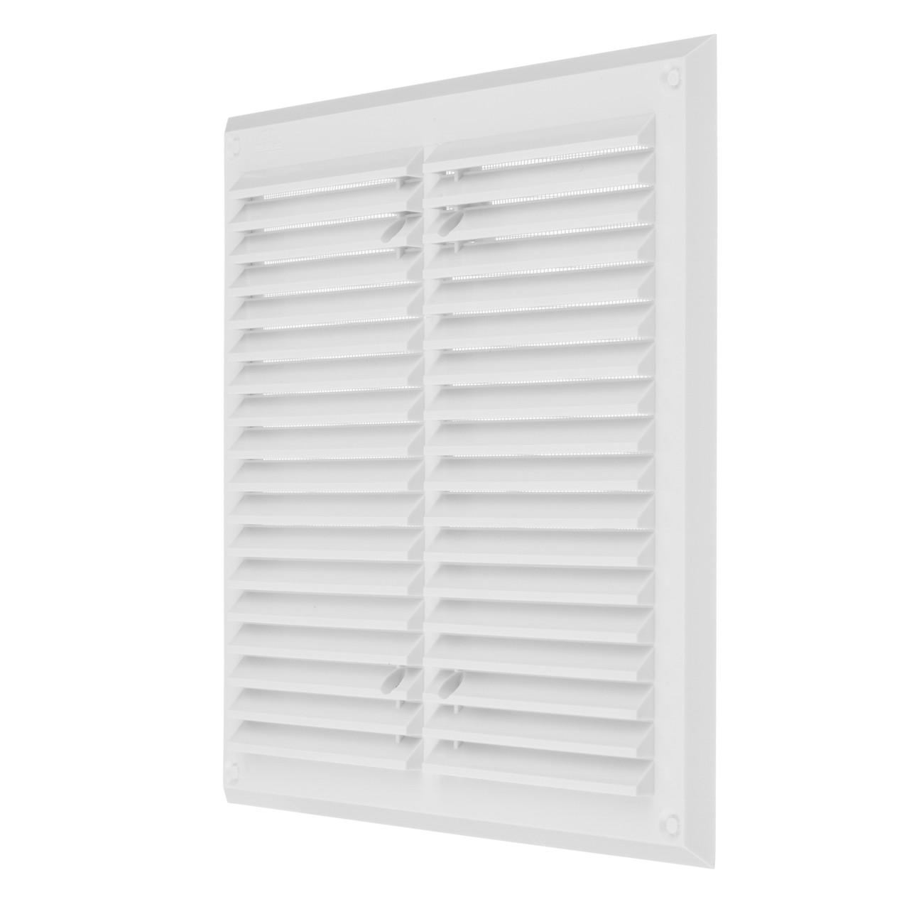 Вентиляційна решітка з сіткою проти комах (пластик, без кріплення) 215х215