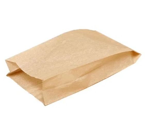 Пакет бумажный 16+6*32см из бурой крафт бумаги 1000шт