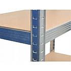 Металевий поличний стелаж вітрина з полицями Siker G7030 150х70х30 см, фото 6