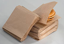 Пакет бумажный 15х14см для бургера крафт бурый 2000шт