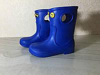 Сапоги ЭВА на мальчика, зимние ботинки ПВХ, детские валенки синие, зимняя обувь из пенки, сноубутсы, фото 1