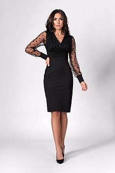 / Размер 42,44,46 / Женское нарядное платье мини прилегающего силуэта 1282.1